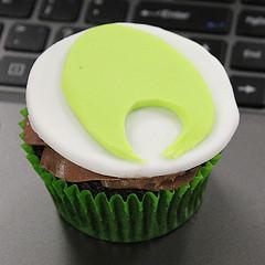 Koha cupcake - 2015-01-16 by Kristina D.C. Hoeppner, on Flickr